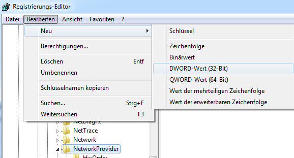Registry: Neues DWORD